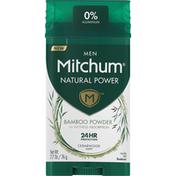Mitchum Deodorant, Bamboo Powder, Cedarwood Scent, Men