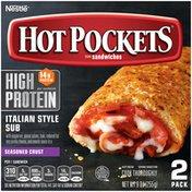 Hot Pockets High Protein Italian Style Sub Seasoned Crust Frozen Snacks