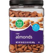 Food Club Almonds, Raw