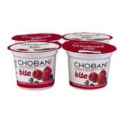 Chobani Non-Fat Greek Yogurt Bite Raspberry with Dark Chocolate Chips - 4 CT
