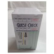 First Street Green Guest Checks Pad With Record Receipt Stub