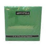 First Street Artstyle Emerald Green 3 Ply 15x15 Napkin