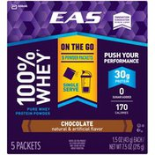 EAS Chocolate EAS 100% Whey Protein Shake Chocolate Powder Powder Packs