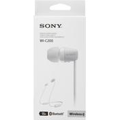 Sony Stereo Headset, Wireless, White, WI-C200