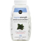 Publix Antacid Calcium Supplement, Regular Strength, 500 mg, Chewable Tablets, Peppermint