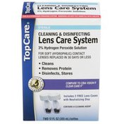 TopCare Sterile Cleaning & Disinfecting Lens Care System 3% Hydrogen Peroxide Solution For Soft Contact Lenses