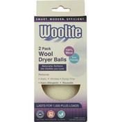 Woolite Dryer Balls, Wool, 2 Pack