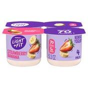 Light + Fit Nonfat Gluten-Free Strawberry Banana Yogurt
