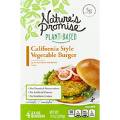 Nature's Promise Vegetable Burger, California Style