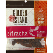 Golden Island Pork Jerky, Sriracha, Fire-Grilled