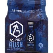 Aspire Sports Drink, Rush, Blue Raspberry