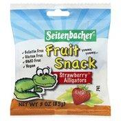 Seitenbacher Fruit Snack, Strawberry Alligators, Bag