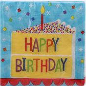 Celebrations Napkins, Cake Birthday, 2-Ply,