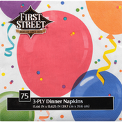 First Street Napkins, Dinner, All Family Birthday, 3-Ply