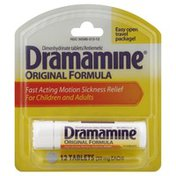 Dramamine Motion Sickness Relief, For Children and Adults, Original Formula, Tablets