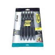 Pilot Black Retractable Gel Pens With Rubber Grip .7mm