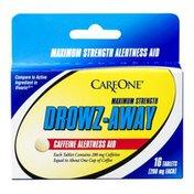 CareOne Drowz-Away Caffeine Alertness Aid Tablets Maximum Strength - 16 CT