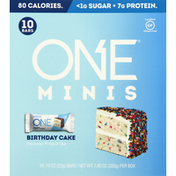 One Protein Bar, Birthday Cake Flavored, Minis