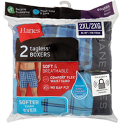 Hanes Boxers, Tagless, Soft & Breathable, 2XL