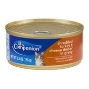 Companion Premium Cat Food Shredded Turkey & Cheese Dinner in Gravy