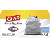 Glad Drawstring Bags, Tall Kitchen, Mountain Air, 13 Gallon