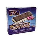 Golden Creme Cookies & Creme Ice Cream Sandwich