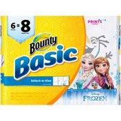 Bounty Basic Select A Size Paper Towels, Disney Frozen Print, Towels Napkins