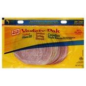 Oscar Mayer Variety Pak, Cooked Ham, Smoked Turkey Breast, Canadian Style Bacon