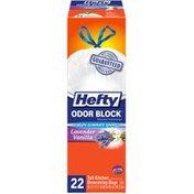 Hefty Kitchen Fresh Tall Drawstring Odor Block Lavender Vanilla 13 Gal Kitchen Bags