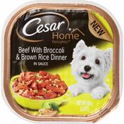 CESAR Canine Cuisine Beef with Broccoli Dinner Wet Dog Food