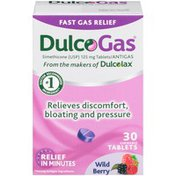 Dulcolax DulcoGas Wild Berry 125mg Chewable Tablets Antigas