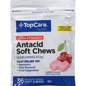 TopCare Ultra Strength Antacid Calcium Carbonate 1177 Mg Soft Chews, Cherry