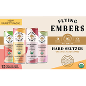 Flying Embers Hard Seltzer, Variety Pack