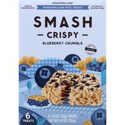 Smashmallow Marshmallow Rice Treats, Blueberry Crumble, Crispy