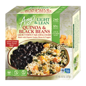 Amy's Kitchen Frozen Bowls, Light & Lean Quinoa and Black Beans with Butternut Squash & Chard, Gluten free