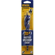 Irwin Tri-Flute Bit, Speed Tip, 1 inch