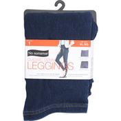 No nonsense Leggings, Classic Denim, Dark Denim, Size XL