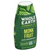 Whole Earth & Sea Sweetener, 0 Calorie, Monk Fruit Juice Concentrate