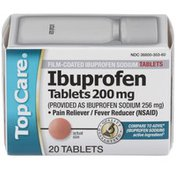 TopCare Ibuprofen 200 Mg (provided As Ibuprofen Sodium 256 Mg) Pain Reliever/fever Reducer (nsaid) Film-coated Tablets