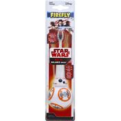 Firefly Toothbrush, Star Wars, BB-8, Balance Brush, Soft