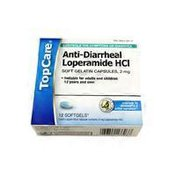 TopCare Anti-diarrheal Loperamide Hcl 2 Mg Softgels