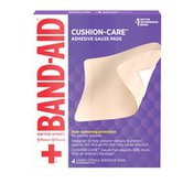 Band-Aid Brand Of First Aid Products Cushion-Care Adhesive Gauze Pad