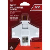 Ace Bakery Wall Adapter, Swivel, Polarized, White