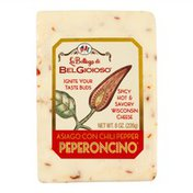 BelGioioso Asiago Con Chili Pepper Peperconcino Cheese, Wedge