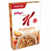 Kellogg's Special K Breakfast Cereal, 11 Vitamins and Minerals, Made with Real Fruit, Berries and Peaches Probiotics