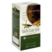 Davidson's Organic Vanilla Cream Spice Dessert Tea, Caffeine-Free