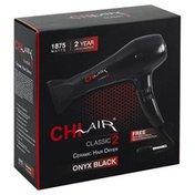 CHI Hair Dryer, Onyx Black, Ceramic
