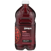 Hy-Vee 100% Cranberry Raspberry Flavored Juice Blended With Two Fruit Juices From Concentrate