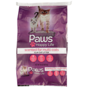 Paws Happy Life Clay Cat Litter, Scented For Multi-Cats