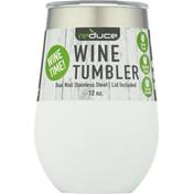 Reduce Wine Tumbler, White, 12 Ounce
